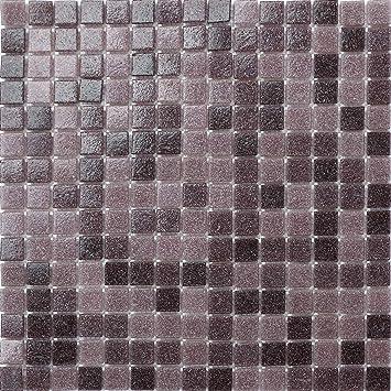 10cm x 10cm Muster. Glas Mosaik Fliesen Muster in Lila ...