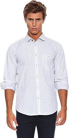 Springfield Camisa Ju K.I Overprint: Amazon.es: Ropa y accesorios