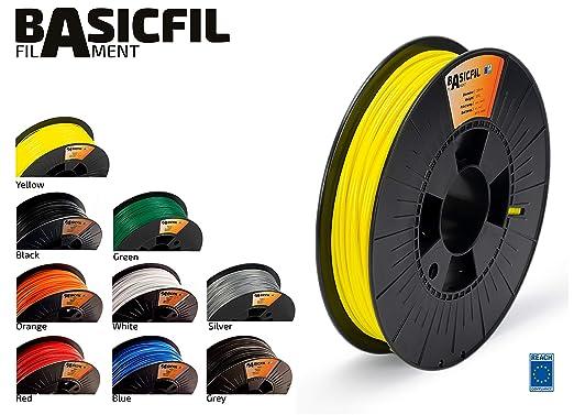 BASICFIL PLA 2.85mm, 500 gr filamento de impresión 3D, Amarillo ...