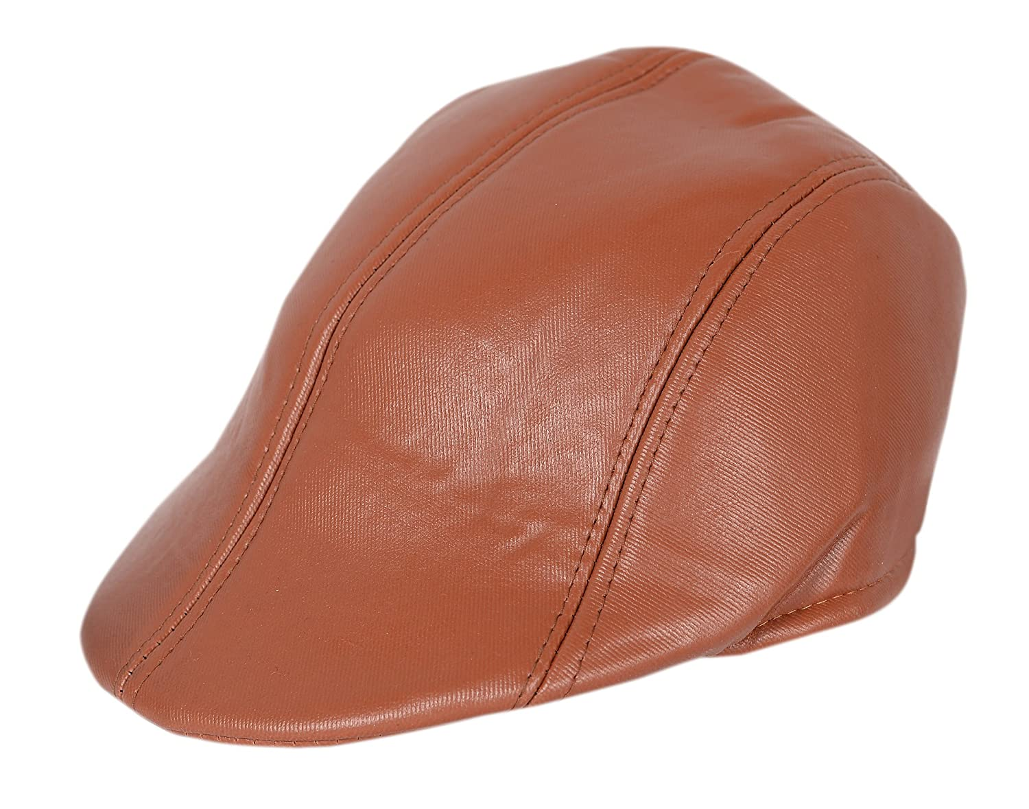 Krystle Men s Tan Leather Golf Cap  Amazon.in  Clothing   Accessories 67fe6824f0d