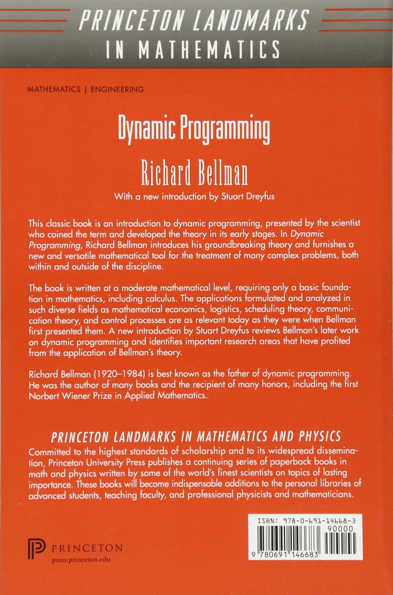 Dynamic Programming (Princeton Landmarks in Mathematics and Physics