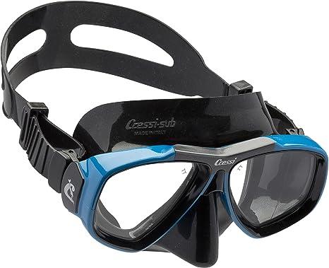 Cressi Focus - Gafas de buceo, color negro/azul