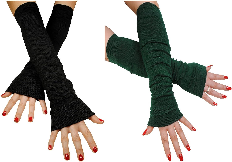 Immerschön Armstulpen Beinstulpen in verschiedenen Farben lang Pulswärmer Handwärmer Stulpen