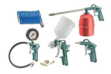 Metabo LPZ 7 Set contenido: pistola de aire comprimido, inflador - Juego de accesorios compresor 7 piezas: Amazon.es: Bricolaje y herramientas