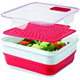 Cool Gear cool gear 2 PACK - EXPANDABLE ON THE GO - W/ BONUS STEAMER TRAY, Red