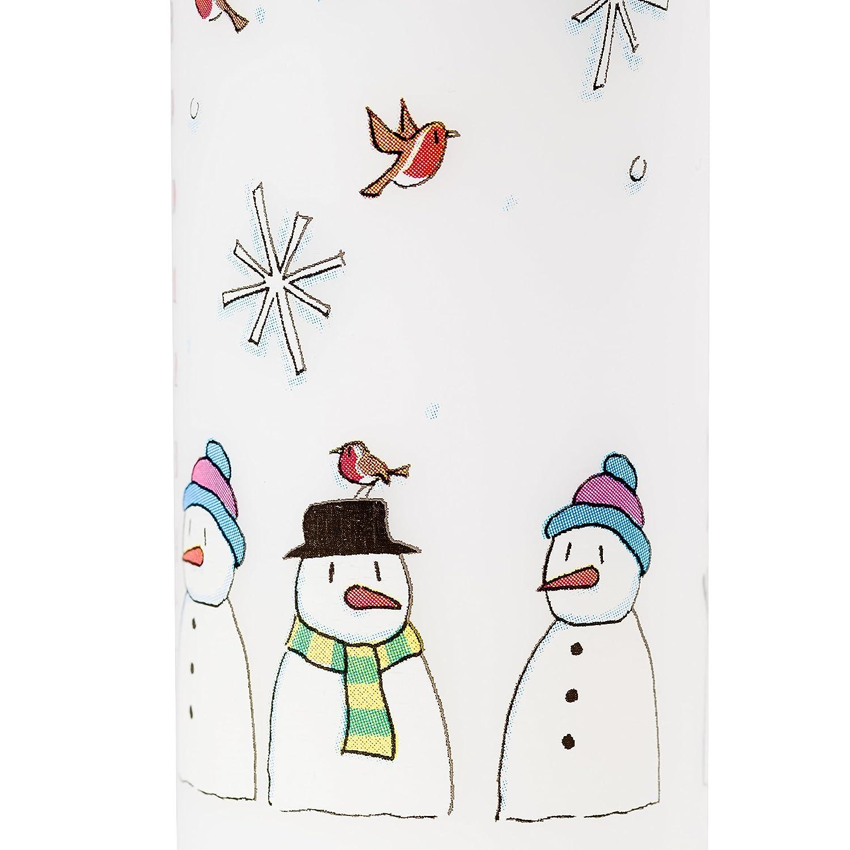 Alison Gardiner Vela de Adviento de Navidad Mu/ñecos de Nieve de cera Pilar 50 horas tiempo de combusti/ón /…