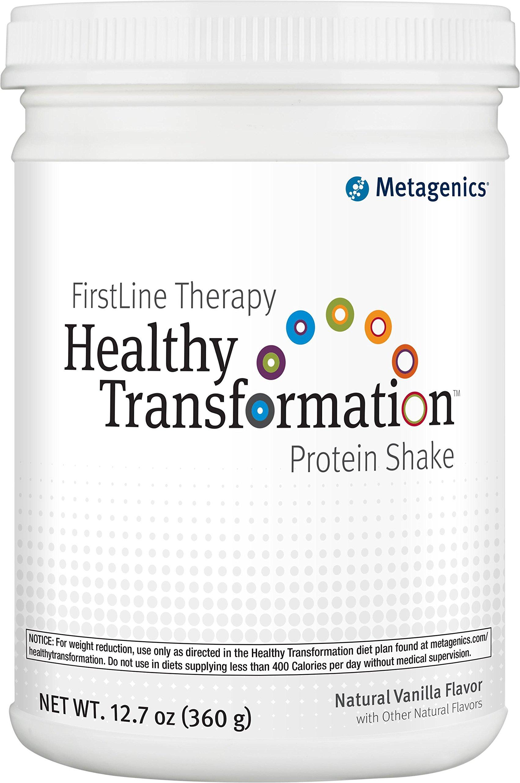 Metagenics - Healthy Transformation Protein Shake, Vanilla Flavor, 12.7 oz Powder