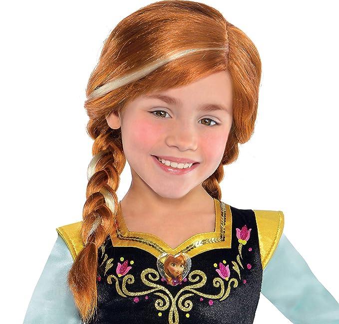 Amazon.com: Disney Frozen del niño peluca – 2 Trenzas – Anna ...