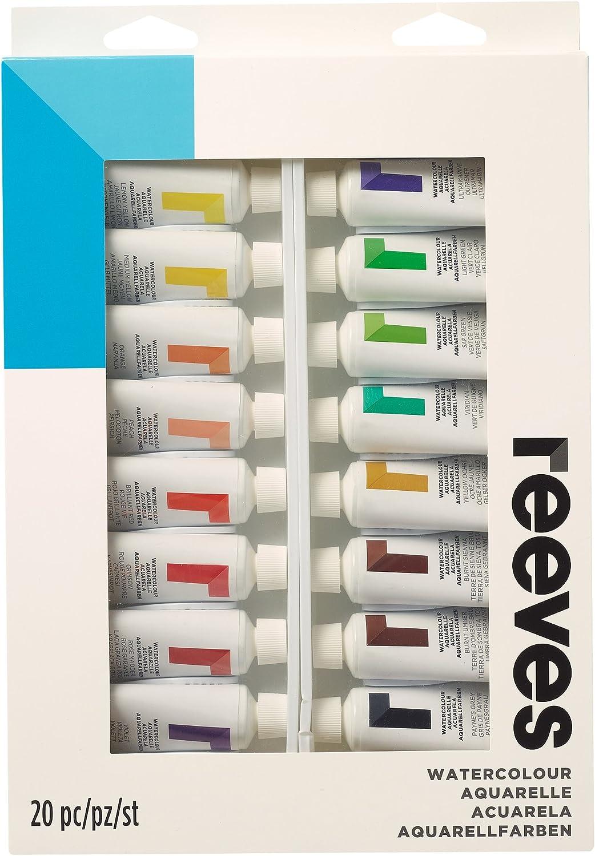Reeves – Juego de Acuarelas Pintura – 22 ml, Colores Surtidos, Materiales sintéticos, Pack de 20: Amazon.es: Hogar