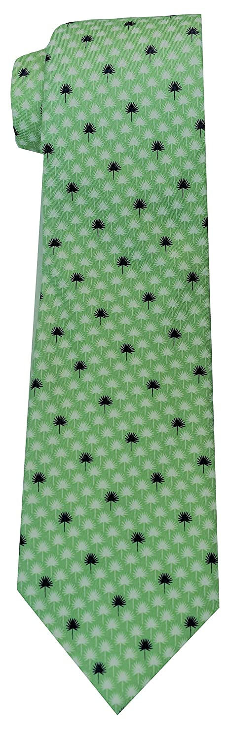 Palmetto Leaf Green Vineyard Vines Mens Tie Silk Standard Length Formal Necktie