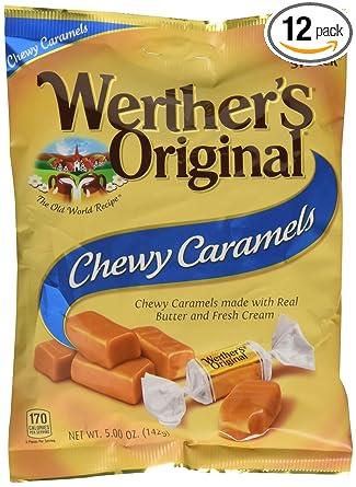 Original de la Werther Chewy caramels, 5.0-ounce bolsas (12 ...
