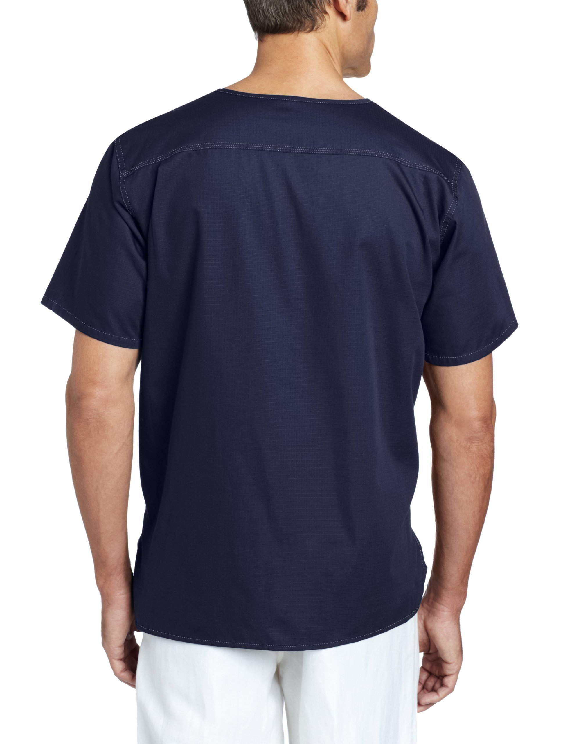 eef29bc7 Carhartt Men's Solid Ripstop Utility Scrub Top, Navy, Medium ...