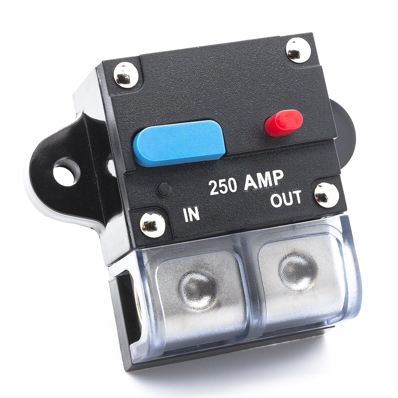 Adapter Universe 200 A Automatische Sicherung Automatik Schalter 12 V / 24 V Spritzwasserschutz fü r Auto Boot Motorrad usw Adapter-Universe 8402