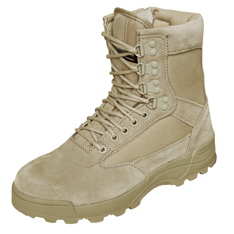 BranditSWAT Tactical Security Boot - Botas Militar Hombre 46 EU|Sand mit Zipper