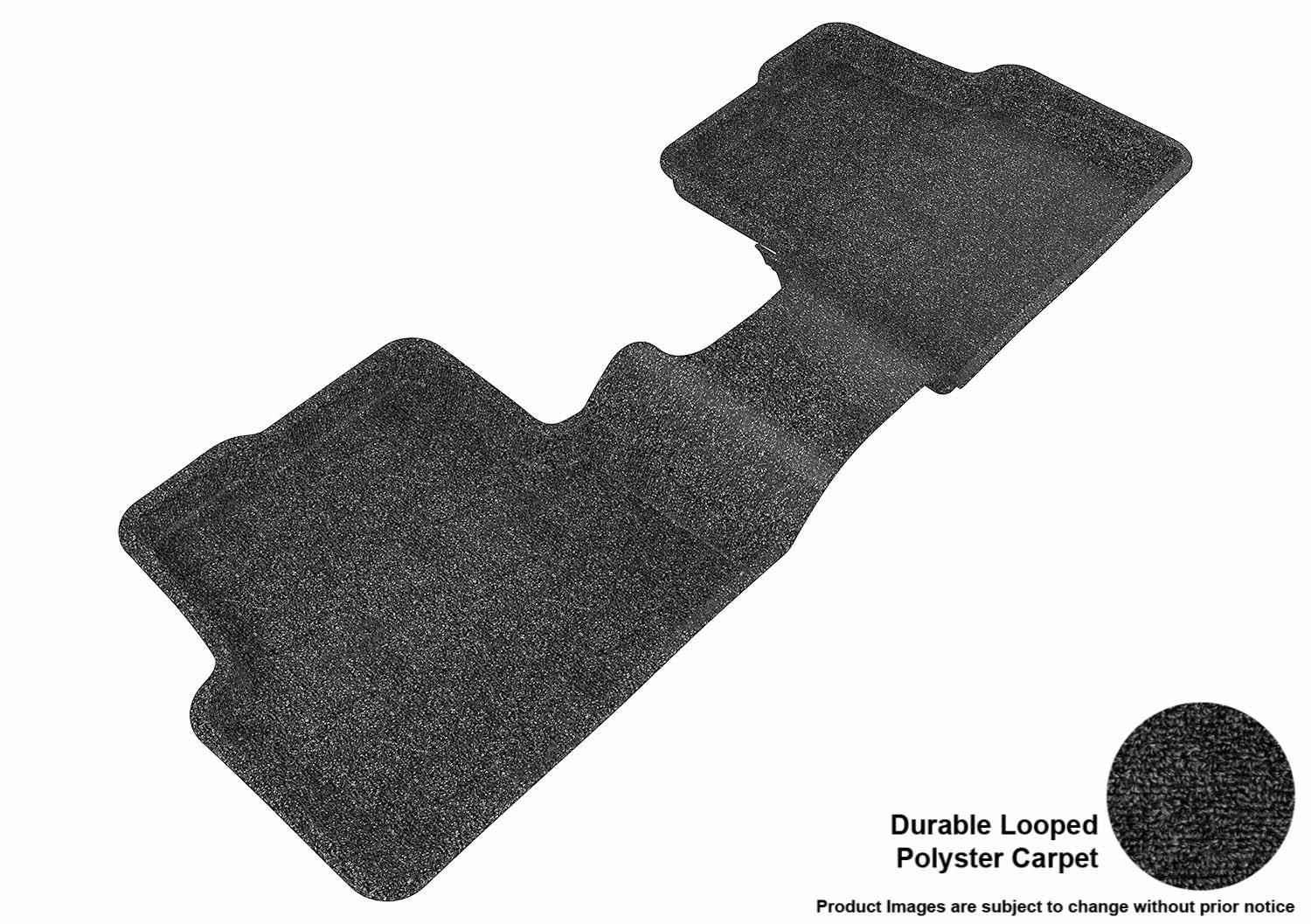 3D MAXpider Second Row Custom Fit All-Weather Floor Mat for Select Chevrolet Sonic Sedan//Hatchback Models L1CH02922201 Classic Carpet Gray