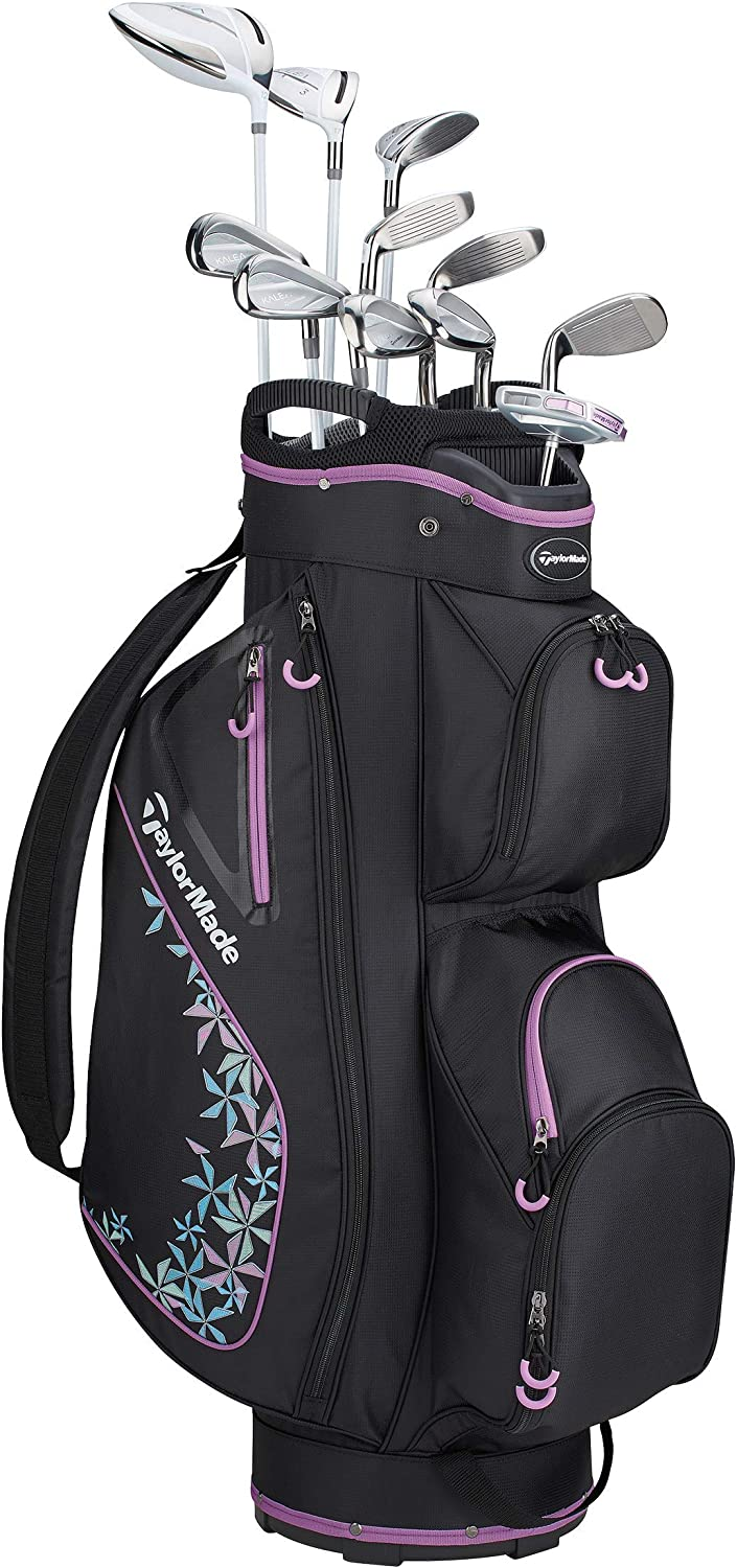 TaylorMade Golf Kalea Complete Golf Set (Dr, 3FW, 5FW, 5H, 6H, 7-PW, SW, Putter, Bag)
