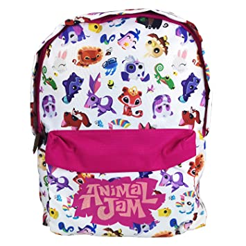 Animal Jam Junior Backpack Large Backpack featuring Cute Multi Character  Designs and Online Game Code - 39cm (H) x 30cm (W) x 11cm (D)