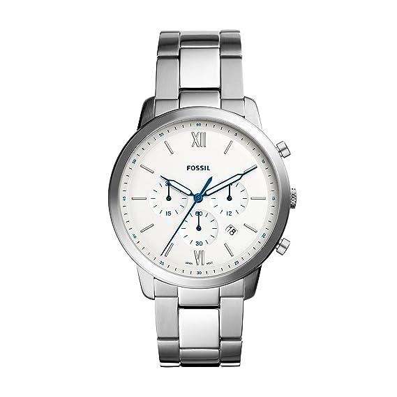 ae794a0af53e Fossil Reloj Cronógrafo para Hombre de Cuarzo con Correa en Acero Inoxidable  FS5433  Amazon.es  Relojes