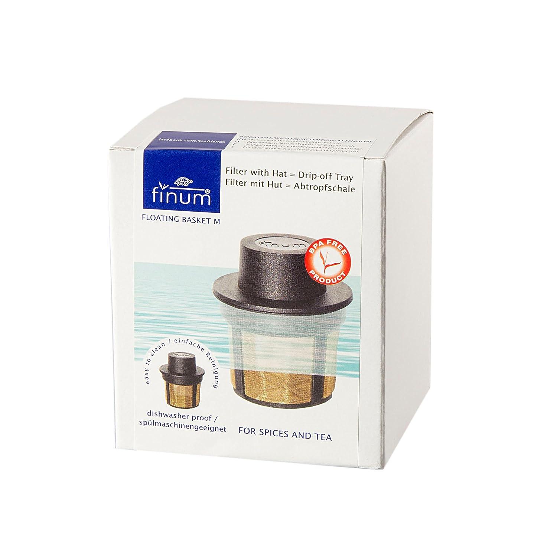 Taille M Finum FLOATING BASKET Filtre permanent flottant pour le th/é et le caf/é Infuseur /à th/é r/éutilisable en acier inoxydable pour th/é caf/é et /épices