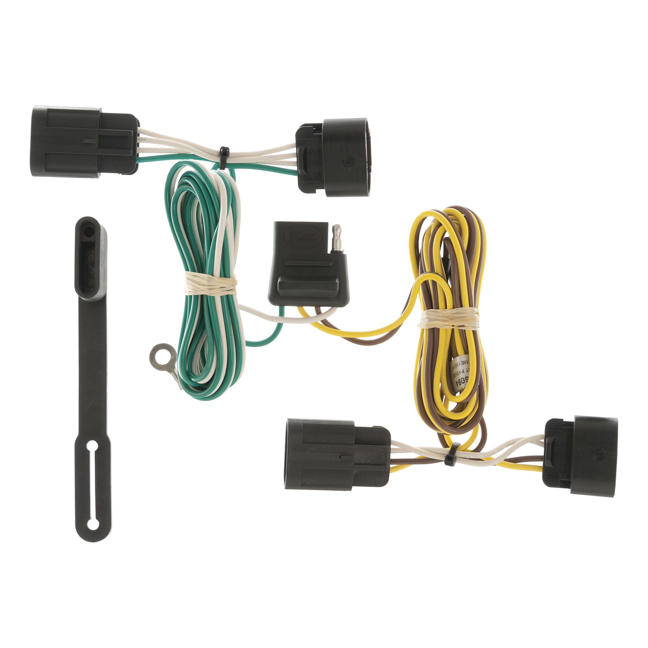 Curt Manufacturing 56094 Trailer Connector Automotive Tconnector Vehicle Wiring Harness With 4pole Flat