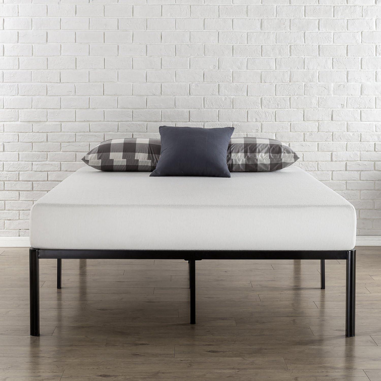 Zinus Bastidor para cama de plataforma de metal con esquinas redondeadas Van de 40,6 cm, Base para colchón, Sin necesidad de usar un somier, Cama en ...