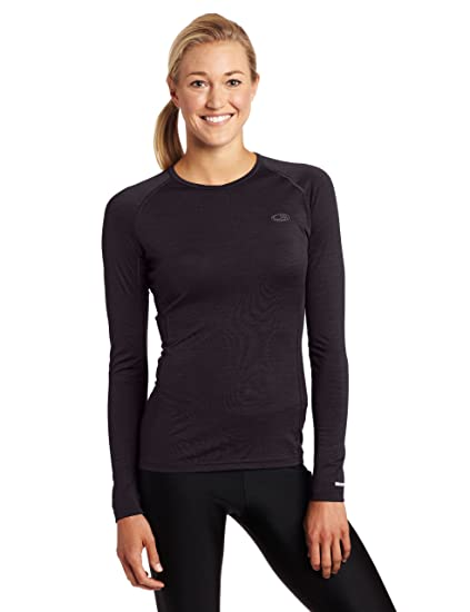 Amazon.com  Icebreaker Women s Oasis Long Sleeve Crewe Top  Sports ... 7bd0e3a79