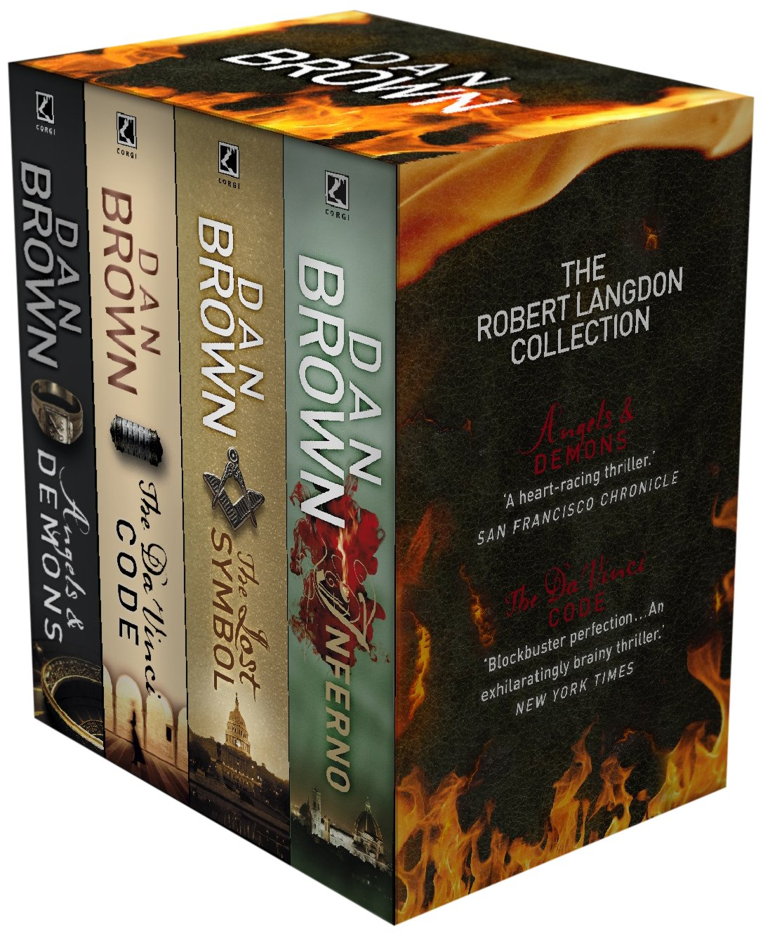 The robert langdon collection set of 4 volumes dan brown the robert langdon collection set of 4 volumes dan brown 9781409609957 amazon books buycottarizona