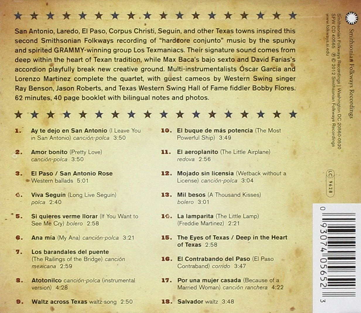 Texas Towns & Tex-Mex Sounds by Smithsonian Folkways