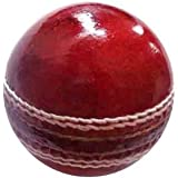 Raisco One Star Cricket Ball - Size: 4 (Pack of 1, Red, White)