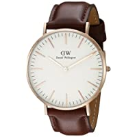 Daniel Wellington Men's Quartz Watch with Black Dial Analogue Display Quartz (One Size, White)