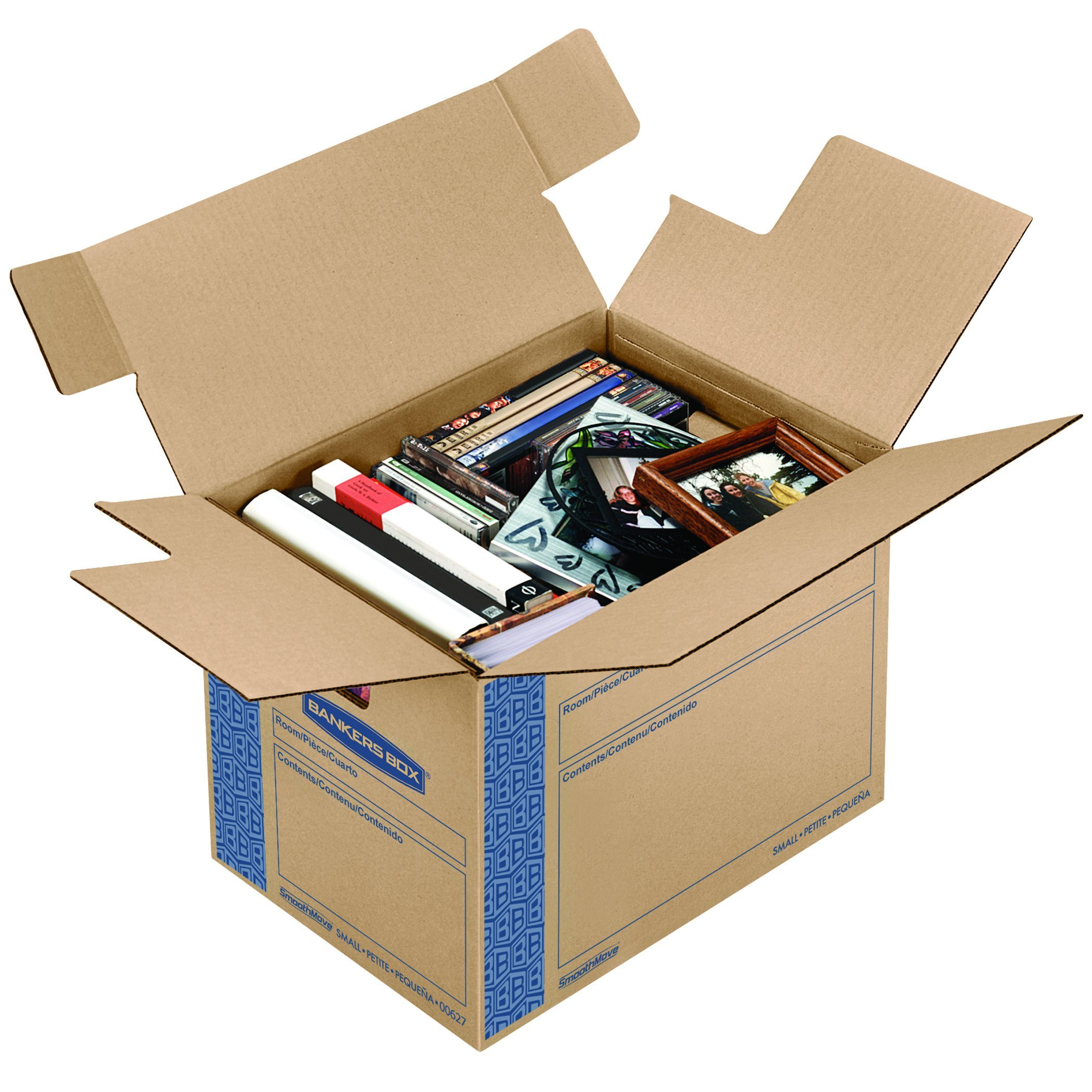 bankers box smoothmove prime moving boxes tape free and fast fold assembly 689789293515 ebay. Black Bedroom Furniture Sets. Home Design Ideas