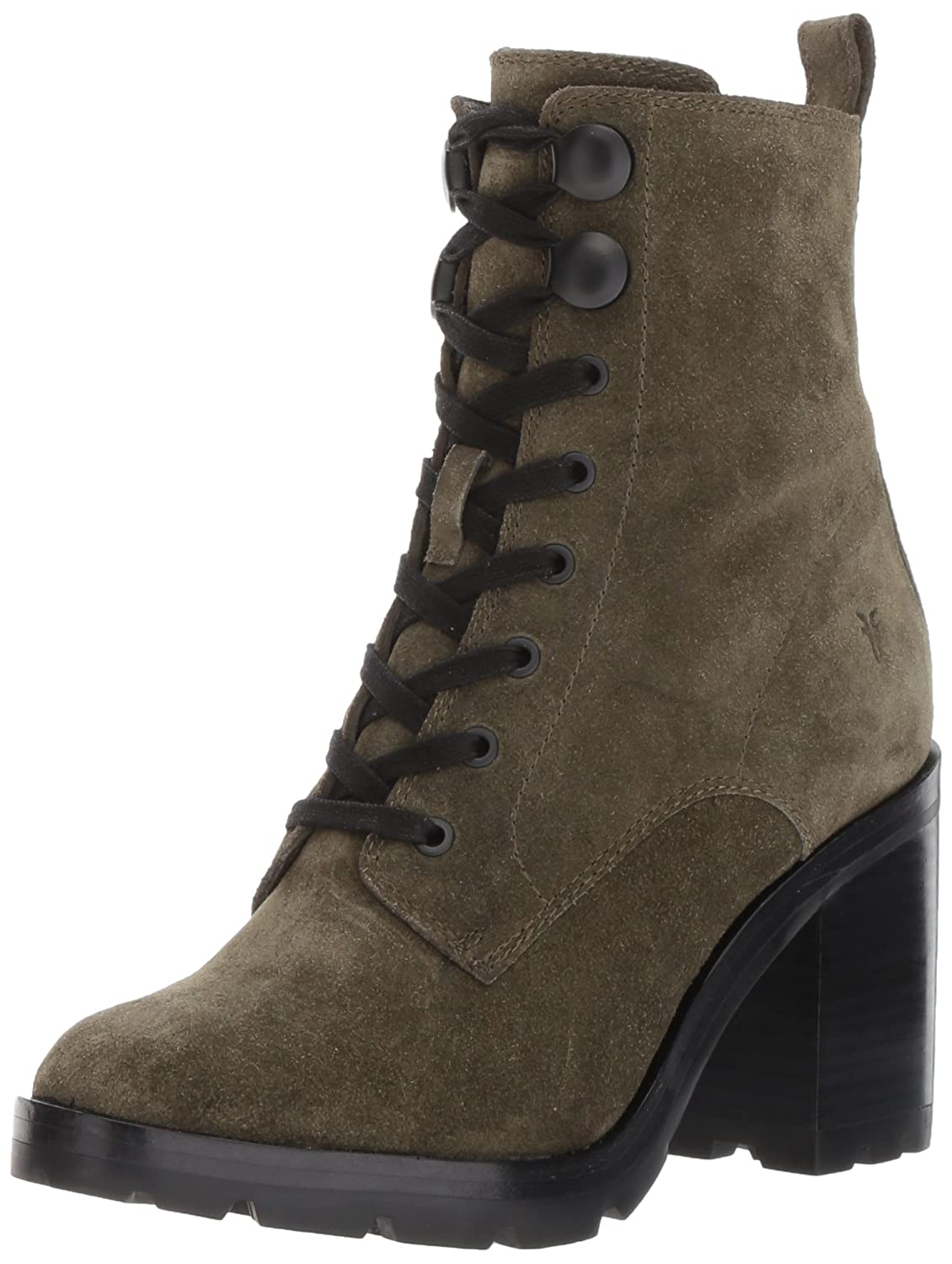 FRYE Women's Myra Lug Combat Boot B01N4H55ZW 5.5 M US|Forest Soft Oiled Suede