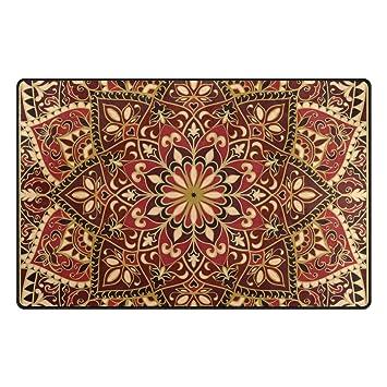 Amazon.com: U LIFE Geometric Vintage Tribal Floral Large Area Rug ...