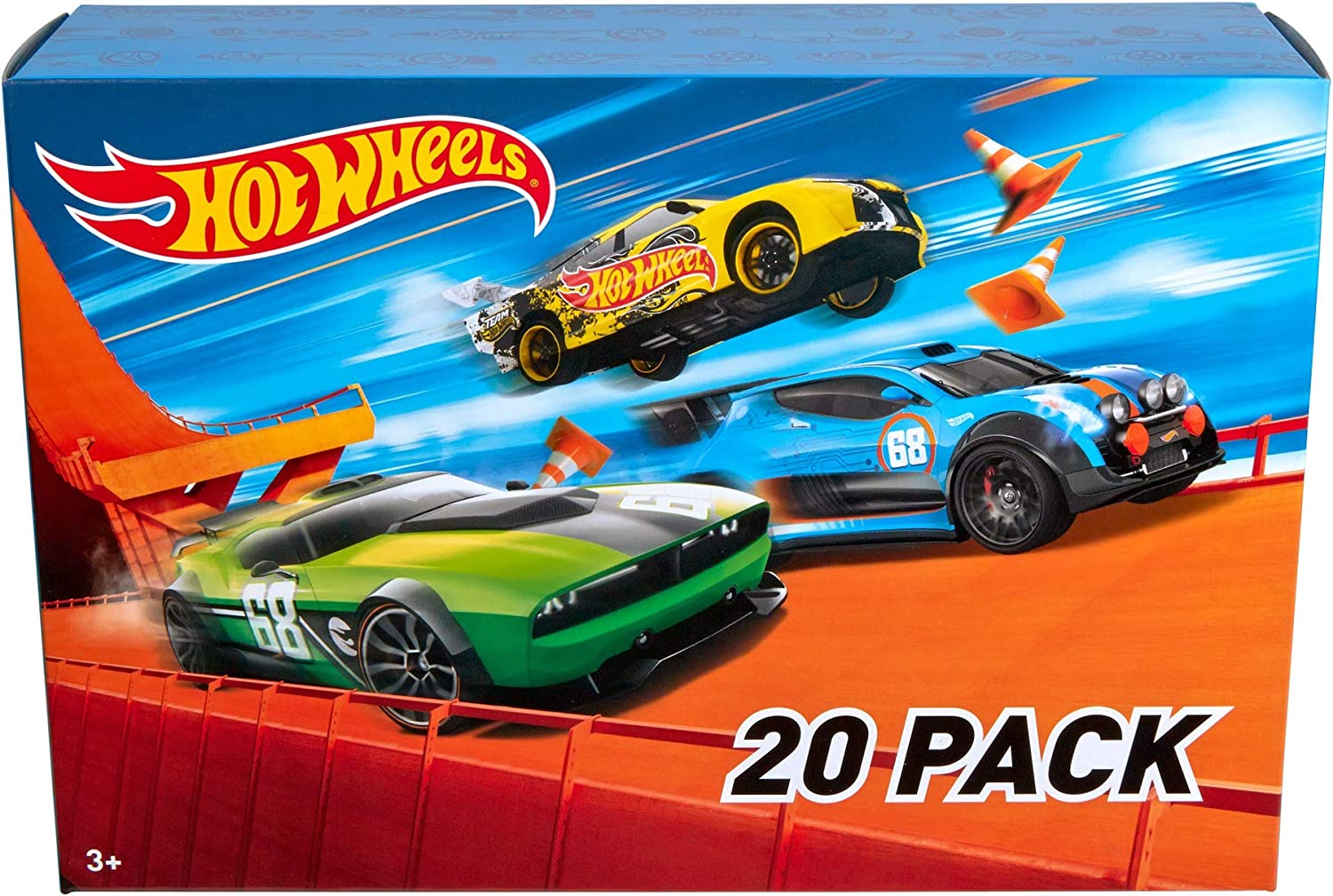 Amazon Com Hot Wheels 20 Car Gift Pack Styles May Vary Multicolor 7 6 T Toys Games
