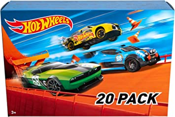Oferta amazon: Hot Wheels - Pack De 20 Vehículos con Embalaje de Cartón, Coches de Juguete (Modelos Surtidos) (Mattel DXY59)