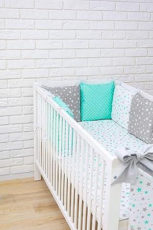 Amilian/® Baby Bettw/äsche Design8 Nestchen Bettset 100x135 f/ür Babybett Decke Kissen Bettumrandung