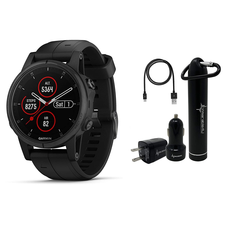 Amazon.com: Garmin Fenix 5S Plus Premium Multisport GPS ...