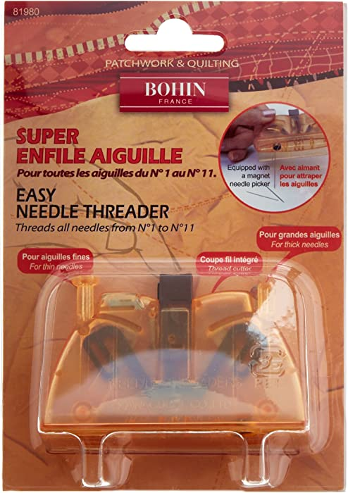 "Bohin Super Automatic Needle Threader, 3""x2""x1.25"""