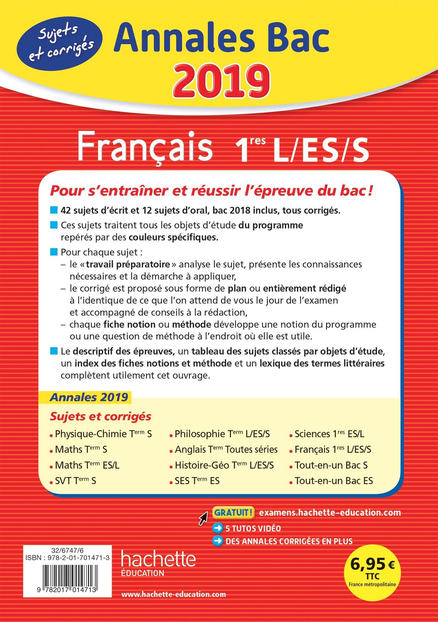 Annales Bac Français 1ères L-ES-S (Annales du Bac): Amazon.es: Isabelle de Lisle, Éric Le Grandic, Sylvie Beauthier: Libros en idiomas extranjeros