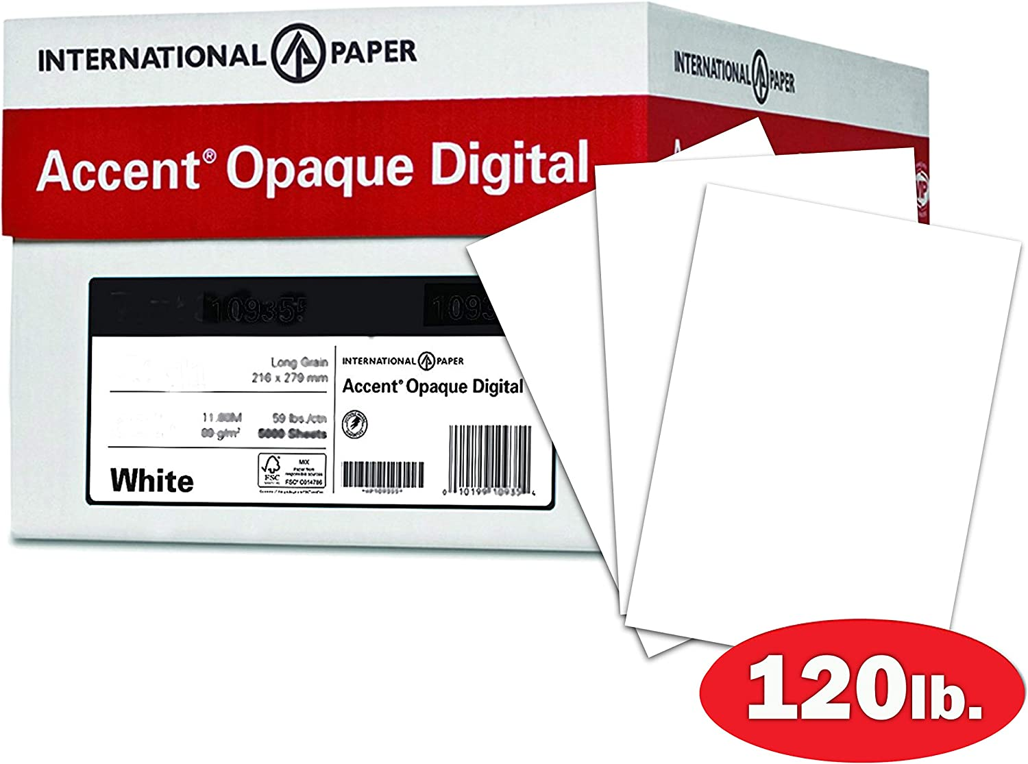 Accent Opaque White Cardstock Paper 271gsm 100lb Cover 188093C Heavy Cardstock with Smooth Finish 11 x 17 card stock 4 Reams // 800 Sheets