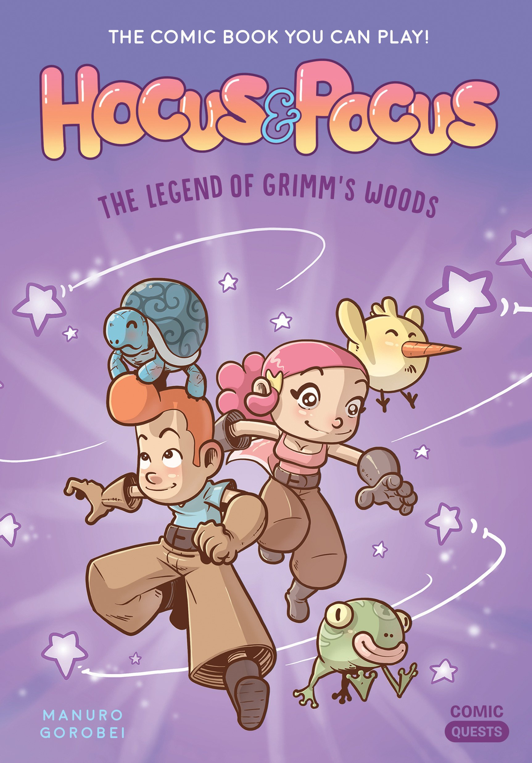 Hocus & Pocus: The Legend of Grimm's Woods: The Comic Book You Can Play ( Comic Quests): Manuro, Gorobei: 9781683690573: Amazon.com: Books