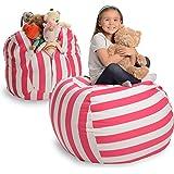Creative QT Stuffed Animal Storage Bean Bag Chair - Extra Large Stuff 'n Sit Organization for Kids Toy Storage…