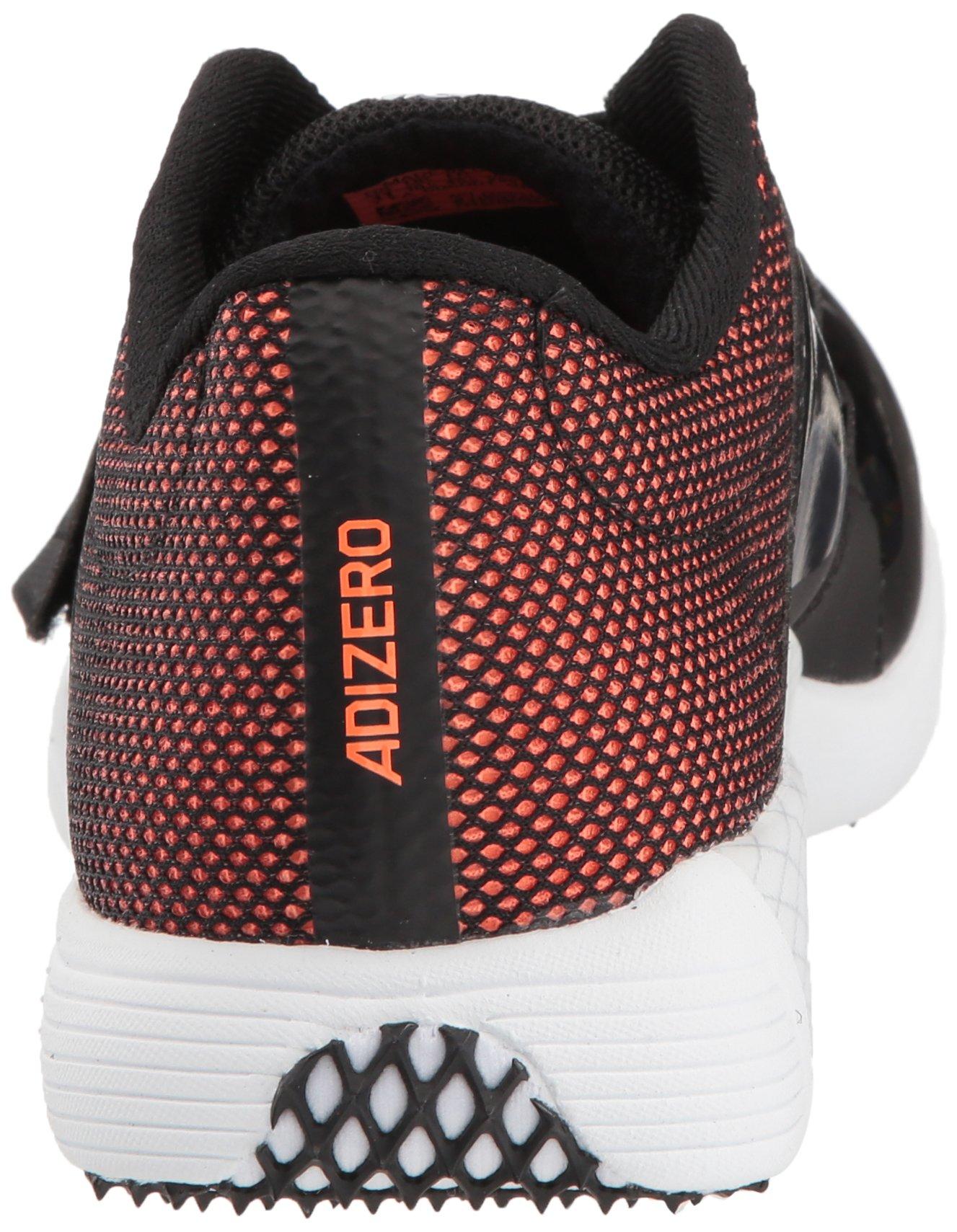 adidas Adizero tj/pv Running Shoe core Black, FTWR White, Orange 13.5 M US by adidas (Image #2)
