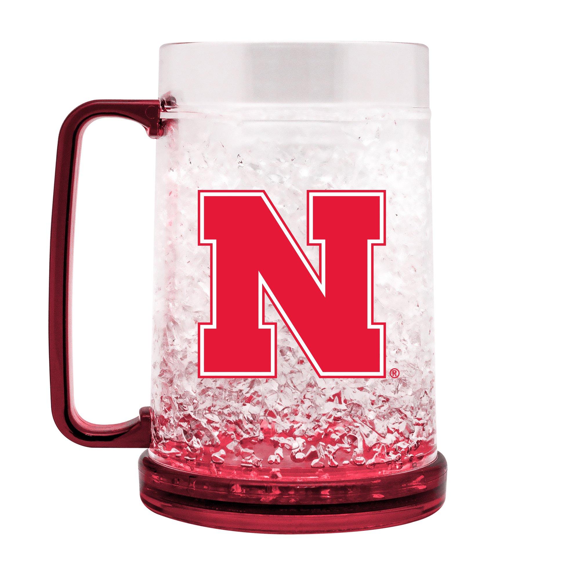 NCAA Nebraska Cornhuskers 16oz Crystal Freezer Mug by Duck House