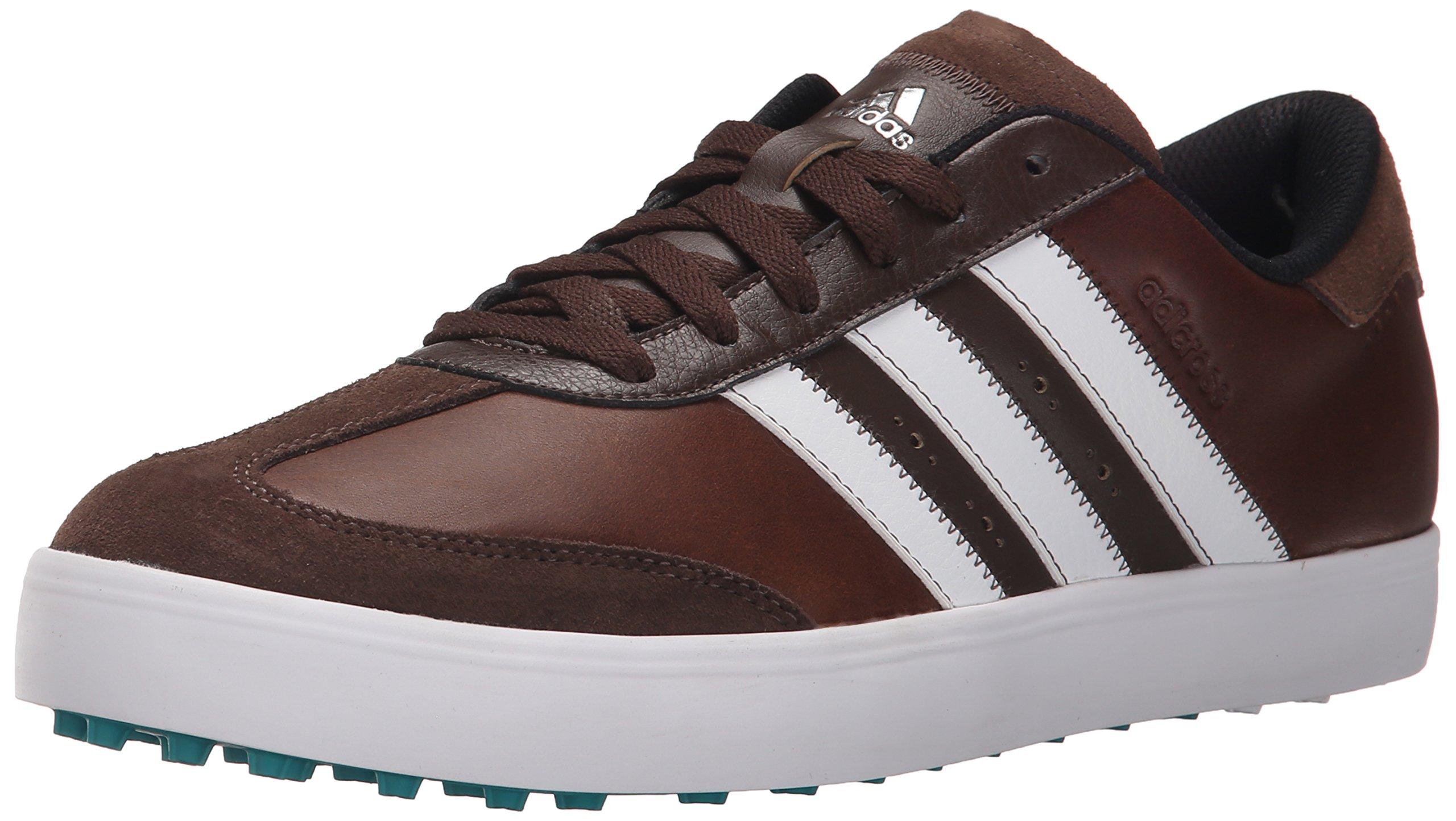 adidas Men's Adicross V Golf Shoe, Brown/White/EQT Green, 10.5 M US by adidas