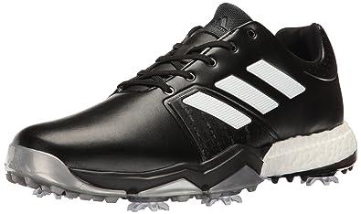 9c8004e84e adidas Men's Adipower Boost 3 Golf Shoe, Black/White/Silver Metallic, 7