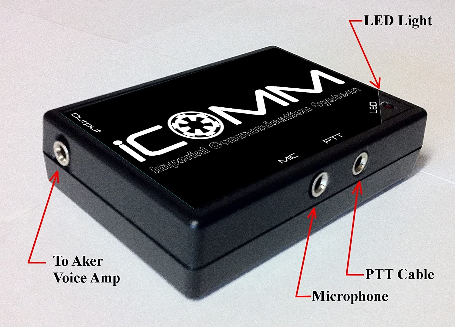Voicebooster Icomm Imperial Communication System Circuit Diagram Superhero Power Plant Adafruit Learning Static Burst Effect Like Stormtrooper Toys Games