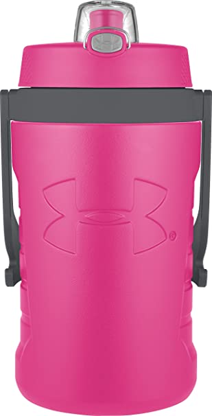 under armour 64 oz. under armour 64 ounce foam insulated hydration bottle, rebel pink oz