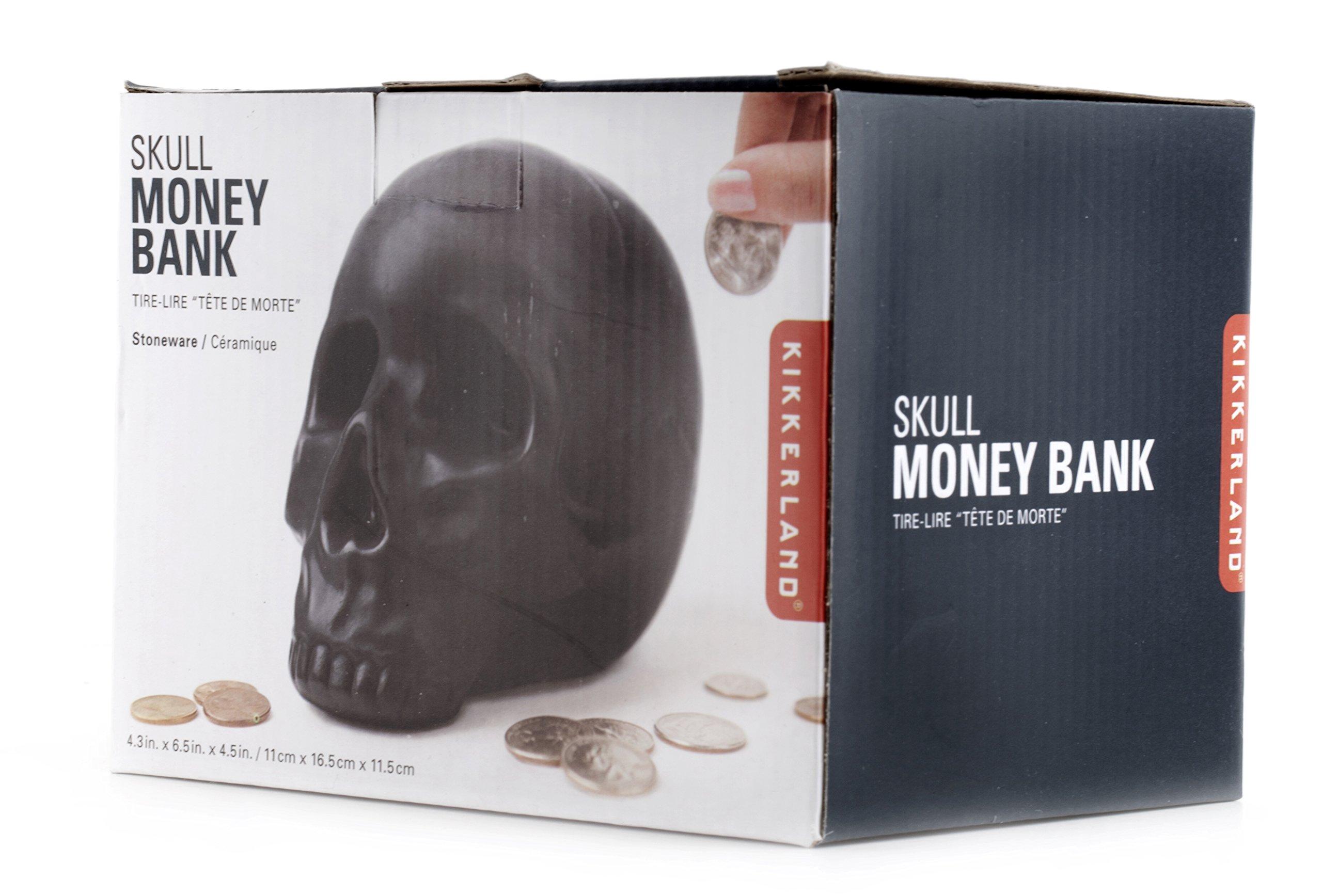 Kikkerland Skull Coin Bank