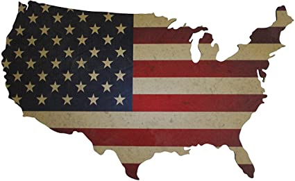Amazoncom American Flag Wall Art Large 36 X 22 Laser Cut Wood - American-flag-us-map